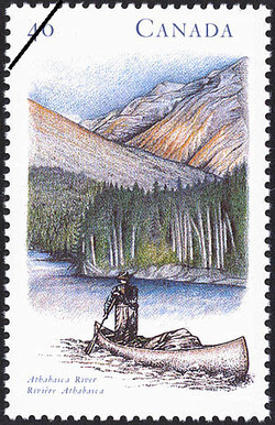 Athabasca River Canada Postage Stamp | Canada's River Heritage, Wilderness Rivers