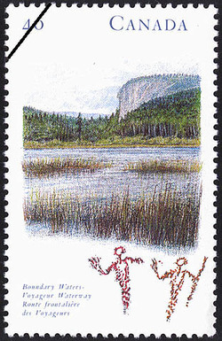 Boundary Waters - Voyageur Waterway Canada Postage Stamp | Canada's River Heritage, Wilderness Rivers
