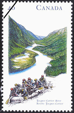 Jacques-Cartier River Canada Postage Stamp