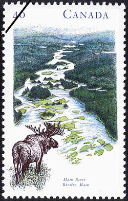 Main River Canada Postage Stamp
