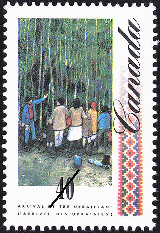 Family before a Vast Forest Canada Postage Stamp