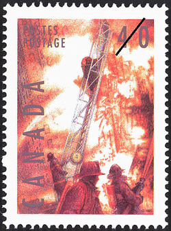 Firefighting  Postage Stamp