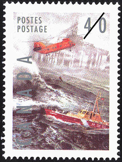 Search and Rescue Canada Postage Stamp | Dangerous Occupations