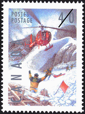 Ski Patrol Canada Postage Stamp
