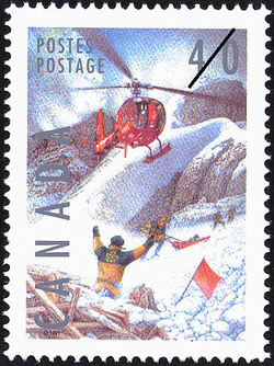 Ski Patrol Canada Postage Stamp | Dangerous Occupations