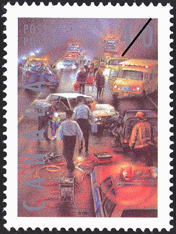 Police Canada Postage Stamp
