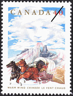 Warm Wind, Chinook Canada Postage Stamp