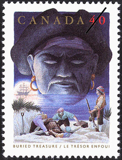 Buried Treasure Canada Postage Stamp