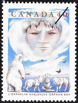 Orphan Boy, Kaujjakjuk Canada Postage Stamp | Folklore, Folktales