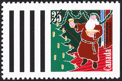 Father Christmas Canada Postage Stamp