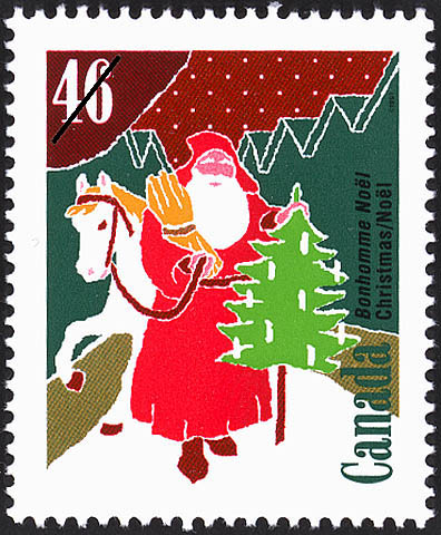 Bonhomme Noel Canada Postage Stamp | Christmas, Christmas Personages