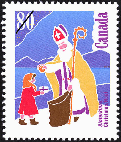 Sinterklaas Canada Postage Stamp | Christmas, Christmas Personages