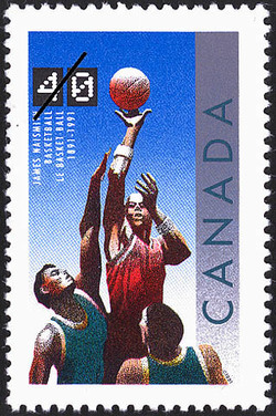 Basketball, 1891-1991, James Naismith Canada Postage Stamp | Basketball