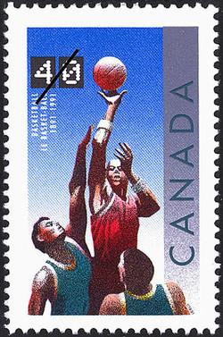 Basketball, 1891-1991 Canada Postage Stamp | Basketball