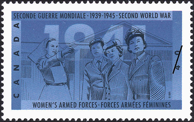 Women's Armed Forces Canada Postage Stamp