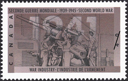 War Industry Canada Postage Stamp | The Second World War, 1941, Total War