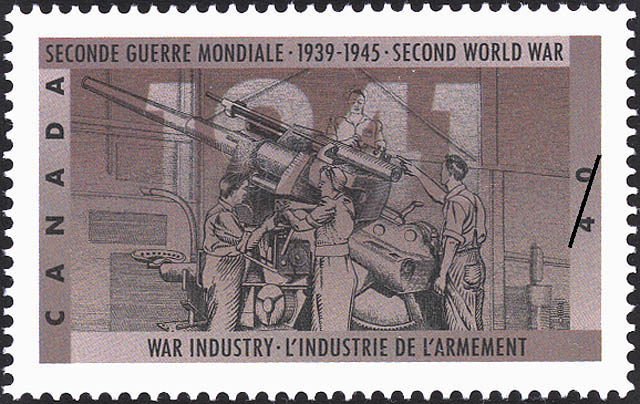 War Industry Canada Postage Stamp