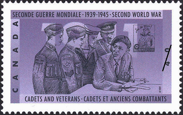 Cadets and Veterans Canada Postage Stamp