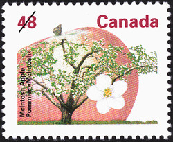 McIntosh Apple Canada Postage Stamp | Fruit Trees