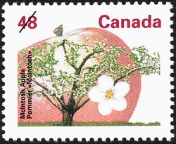 McIntosh Apple Canada Postage Stamp | Fruit Trees