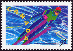 Ski Jumping Canada Postage Stamp | Olympic Winter Games