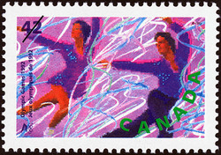 Figure Skating Canada Postage Stamp | Olympic Winter Games