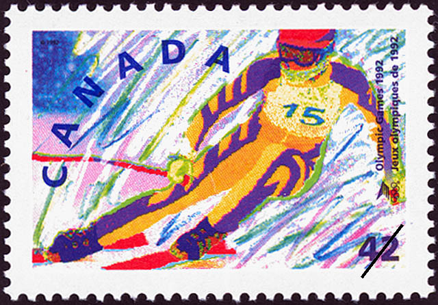 Alpine Skiing Canada Postage Stamp