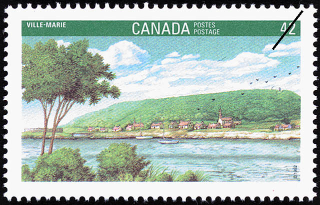 Ville-Marie Canada Postage Stamp