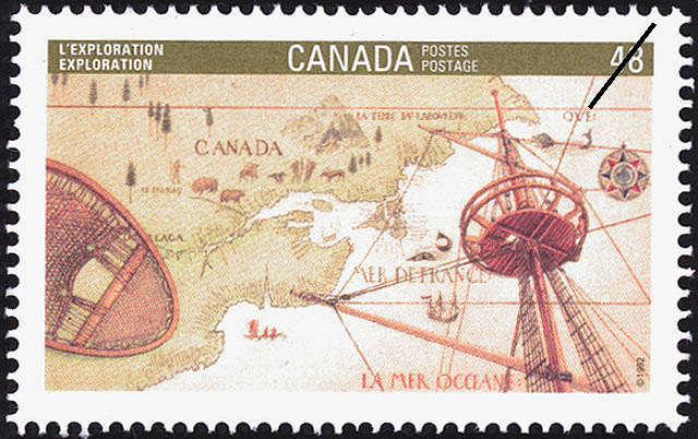 Exploration Canada Postage Stamp