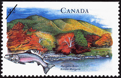 Margaree River Canada Postage Stamp | Canada's River Heritage, Waterways of Industry and Commerce