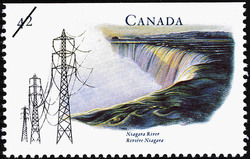 Niagara River Canada Postage Stamp | Canada's River Heritage, Waterways of Industry and Commerce