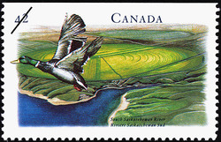 South Saskatchewan River Canada Postage Stamp | Canada's River Heritage, Waterways of Industry and Commerce