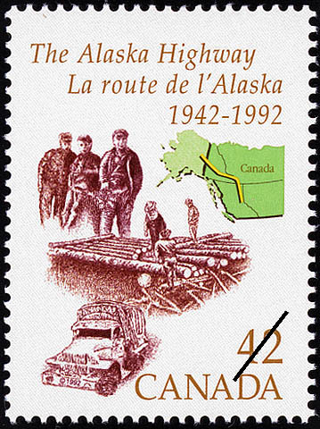 The Alaska Highway, 1942-1992 Canada Postage Stamp