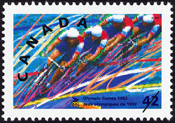 Cycling Canada Postage Stamp | Olympic Summer Games