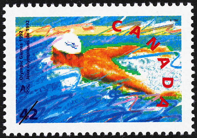 Swimming Canada Postage Stamp | Olympic Summer Games
