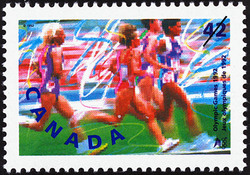 Track and Field Canada Postage Stamp | Olympic Summer Games