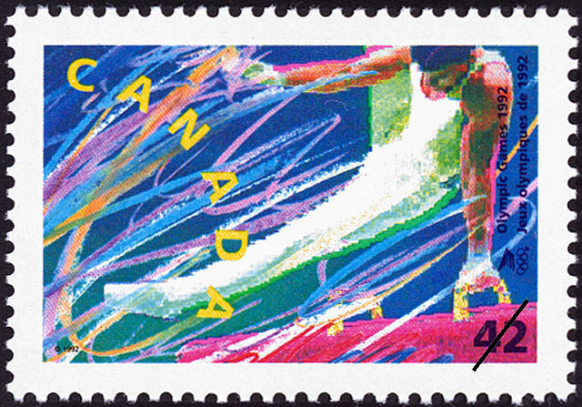 Gymnastics Canada Postage Stamp | Olympic Summer Games