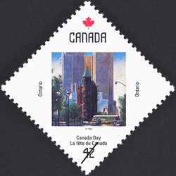 Ontario, Toronto, Landmarks of Time Canada Postage Stamp | Canada Day