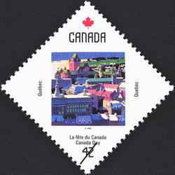 Quebec, Quebec, patrimoine mondial Canada Postage Stamp | Canada Day