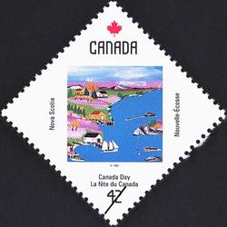 Nova Scotia, Cove Scene Canada Postage Stamp | Canada Day