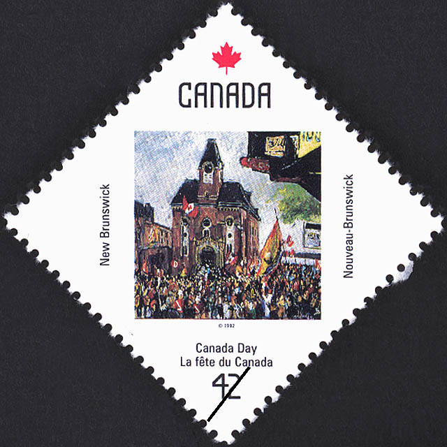 New Brunswick, Crowd at City Hall Canada Postage Stamp