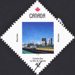 Manitoba, Near the Forks Canada Postage Stamp | Canada Day