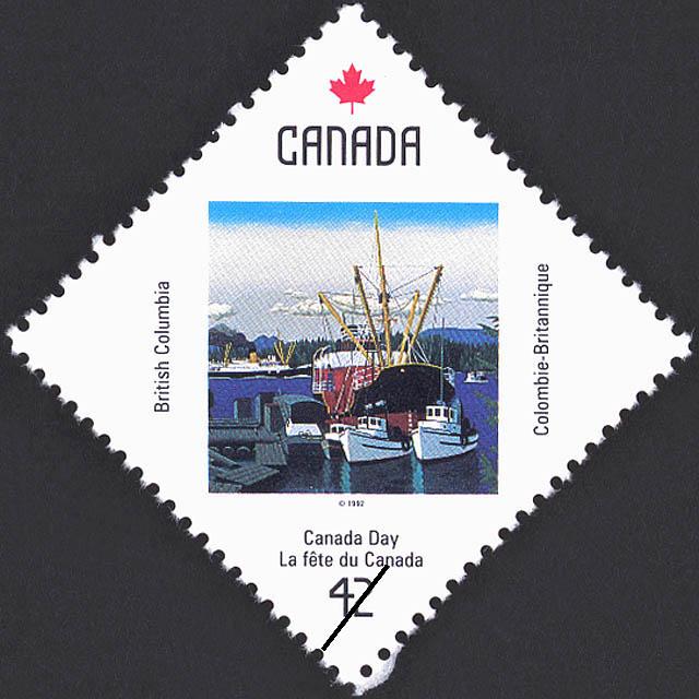 British Columbia, Christie Passage, Hurst Island, B.C. Canada Postage Stamp