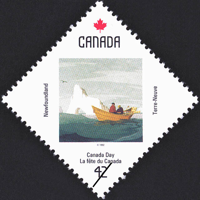 Newfoundland, Off Cape St. Francis Canada Postage Stamp | Canada Day