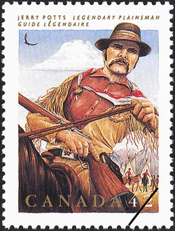 Jerry Potts, Legendary Plainsman Canada Postage Stamp | Folklore, Legendary Heroes