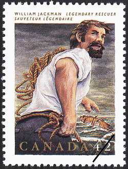 William Jackman, Legendary Rescuer Canada Postage Stamp | Folklore, Legendary Heroes
