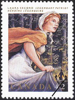 Laura Secord, Legendary Patriot Canada Postage Stamp | Folklore, Legendary Heroes