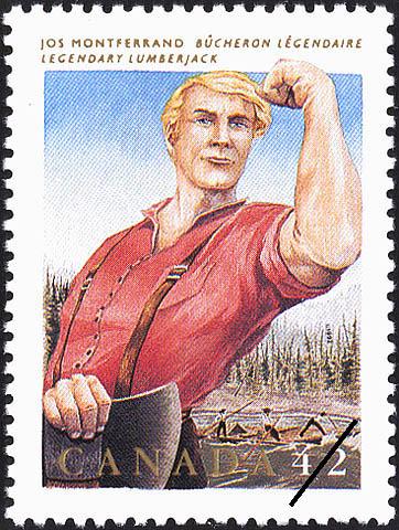 Jos Montferrand, Legendary Lumberjack Canada Postage Stamp