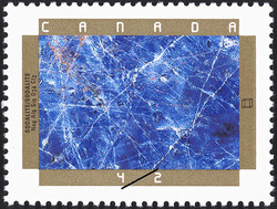 Sodalite Canada Postage Stamp | Canadian Minerals
