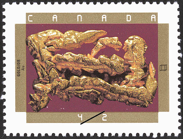 Gold Canada Postage Stamp | Canadian Minerals